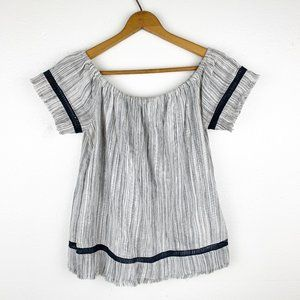Anthropologie dRA Off the Shoulder Grey Top XS